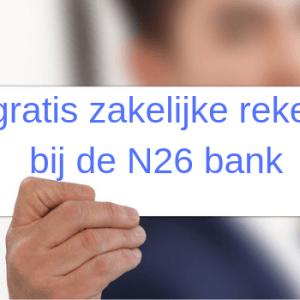 N26 zakelijke rekening