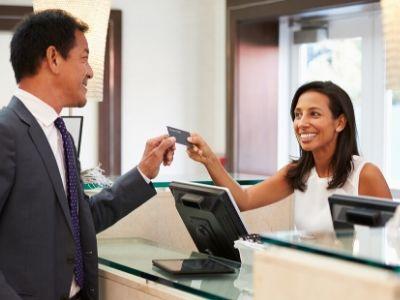 Betalen met een creditcard hotel