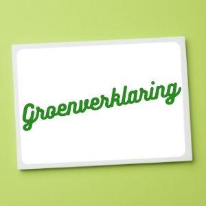Groen sparen groenverklaring