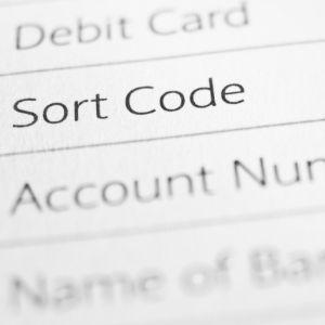 Sort code Engelse bankrekening